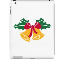 Christmas bells holly iPad Case/Skin