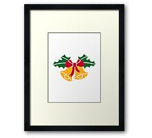 Christmas bells holly Framed Print