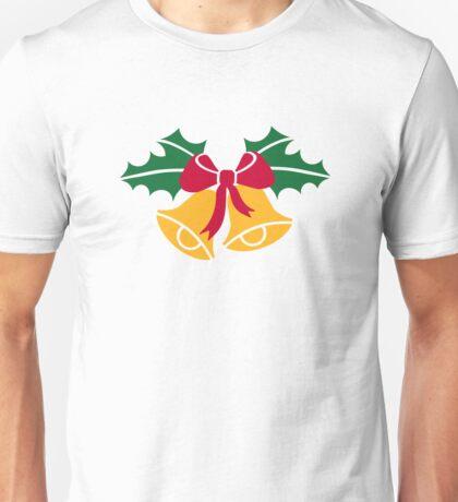 Christmas bells holly Unisex T-Shirt