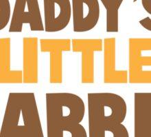 Daddy's little rabbit bunny ears Sticker