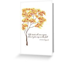 F. Scott Fitzgerald Greeting Card