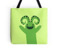 Happy green monster Tote Bag