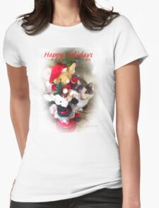 Tiffany Happy Holidays Womens Fitted T-Shirt