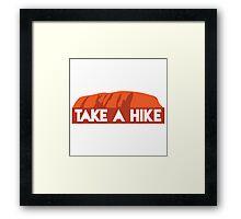 Take a hike (outback rock) Framed Print