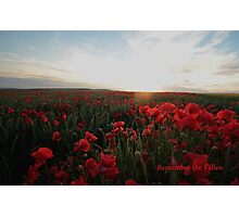 Remember the Fallen Photographic Print
