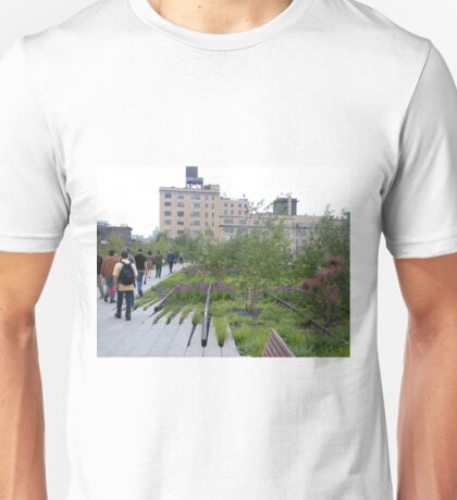 High Line View, New York's Elevated Garden and Walking Path Unisex T-Shirt