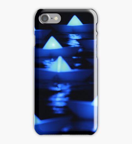Blue paper boats  iPhone Case/Skin