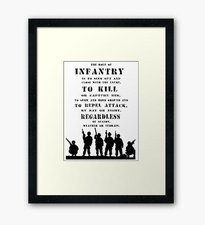 Role of Infantry Framed Print