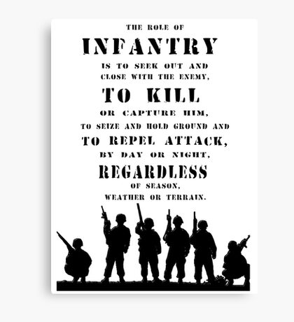 Role of Infantry Canvas Print