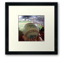 Love Baseball Framed Print