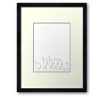 Role of Infantry Framed Print