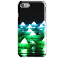 Green/Blue Paper Boats  iPhone Case/Skin