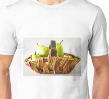 Taste The Art Pears In A Basket By CJ Anderson Unisex T-Shirt