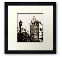 Gothic Cathedral Tower Framed Print