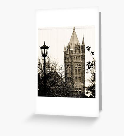 Gothic Cathedral Tower Greeting Card