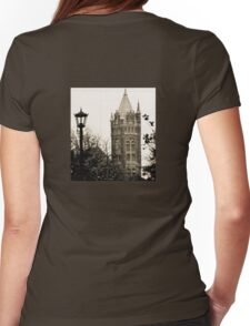Gothic Cathedral Tower Womens Fitted T-Shirt