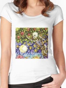 DE LOS MUERTOS Women's Fitted Scoop T-Shirt