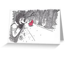 The Red Ridding Hood Greeting Card