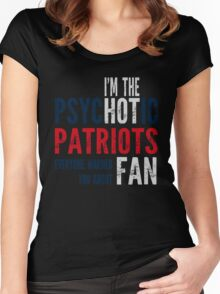 Psychotic Patriots Fan Women's Fitted Scoop T-Shirt