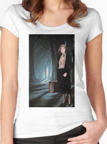 Eerie Woods Women's Fitted Scoop T-Shirt