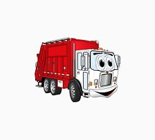Red White Smiling Garbage Truck Cartoon Unisex T-Shirt