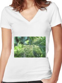 Morning Dew  Women's Fitted V-Neck T-Shirt