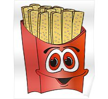 French Fry Cartoon Poster