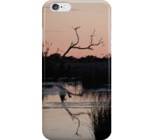 Outback waterhole at sunrise iPhone Case/Skin