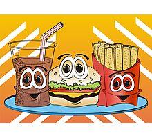 Fast Food Cartoon Photographic Print