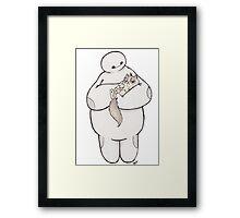 Hairy baby, Grumpy baby Framed Print