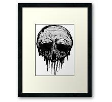 Ink Skull Framed Print