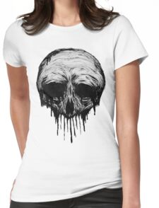 Ink Skull Womens Fitted T-Shirt