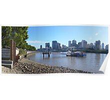 Brisbane panorama Poster