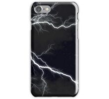 Black Lightning  iPhone Case/Skin