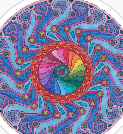 Symmetry and Color Mandala  Sticker
