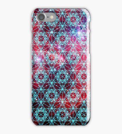 Spiderman Nebula [Happy Blue]   Sacred Geometry Patterns iPhone Case/Skin