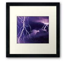 Storm Clouds and Lightning Framed Print
