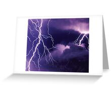 Storm Clouds and Lightning Greeting Card