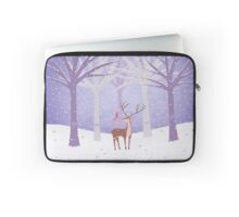 Deer - Squirrel - Winter - Snow - Forest Laptop Sleeve