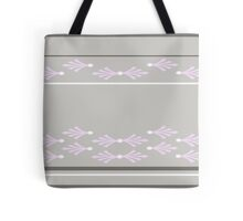 Feathers design in concrete, pink and white Tote Bag