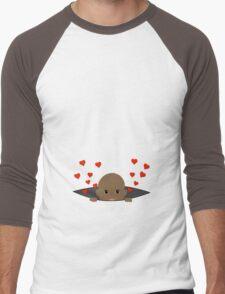 Baby Peek-a-Boo Maternity Design Men's Baseball ¾ T-Shirt