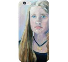 Portrait of a young girl  iPhone Case/Skin