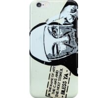 In the name of art, the cans and the holy stencil- Bless ya! iPhone Case/Skin