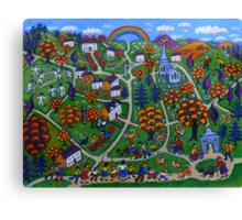 Kington Parva - Somewhere Over the Rainbow Canvas Print