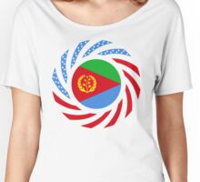 Eritrean American Multinational Patriot Flag Series Women's Relaxed Fit T-Shirt