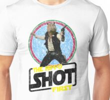 Jungle Wars: Hippo Solo (The Hippo Shot First) Unisex T-Shirt