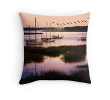 Boats at Anchor~ Evening Tranquility Throw Pillow