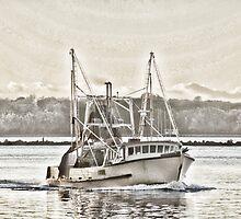 New Avalon - heading home - Richmond River Ballina by Karen Eaton