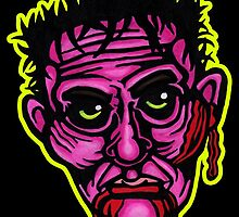 Pink Zombie - Die Cut Version by Montia Garcia