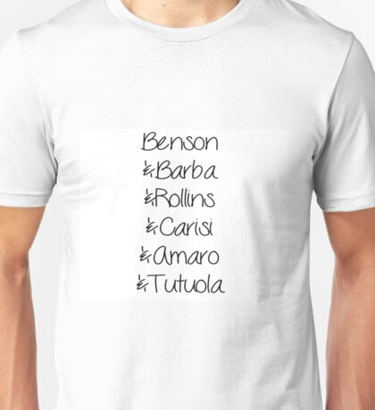 Law and order svu character names Unisex T-Shirt